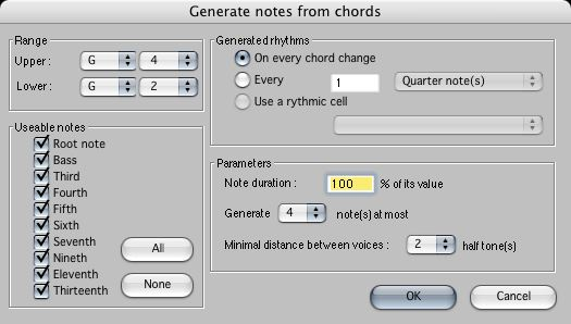 The chord tool
