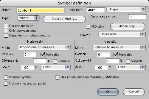 Editing graphic and Midi symbols (3)