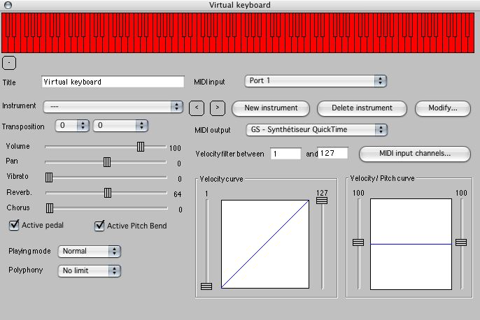 Composition tools - Virtual keyboards